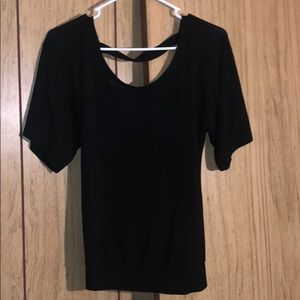 Black low-cut top